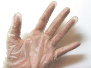 汁危険、手袋を付けよう!