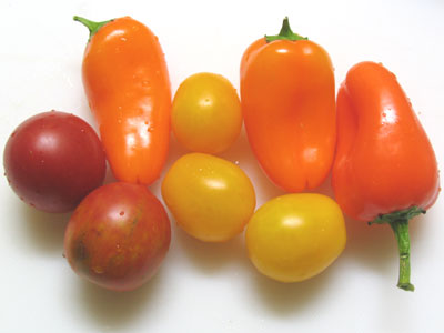 中玉トマト、イエロープチトマト、スウィーピー