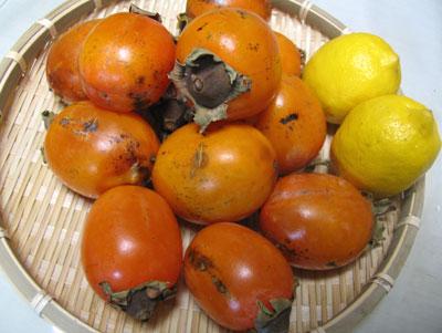 柿ジャム作り