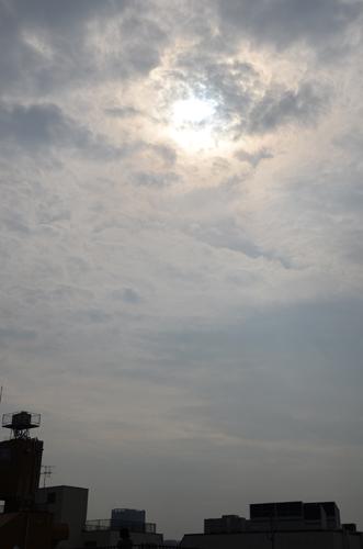 金環日食の朝